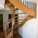 MENUISERIES INTERIEURES - Escalier de logement en hêtre